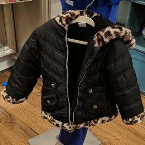 BOGO 50%OFF! Okie dokie leopard puffer coat NWOT